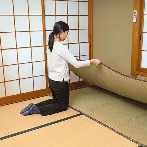 畳の部屋で使える、上敷きの綺麗な敷き方